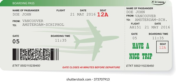 Flight Ticket Images Stock Photos Amp Vectors Shutterstock