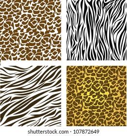 pattern of animal print,  vector illustration