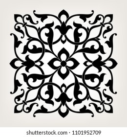 Pattern in arabesque style. Mandala. Round floral ornament.