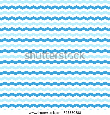 Pattern Background With Blue And White Zig Zag Lines