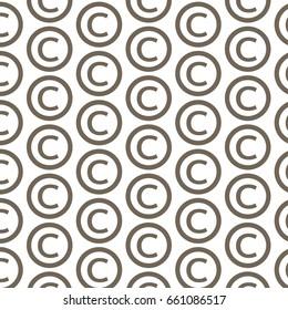 Pattern background copyright symbol icon