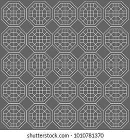 A pattern background made of Korean traditional patterns./ Vector pattern design illustration. / Asia culture. / Octagon pattern.