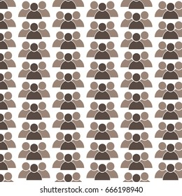Pattern background person icon