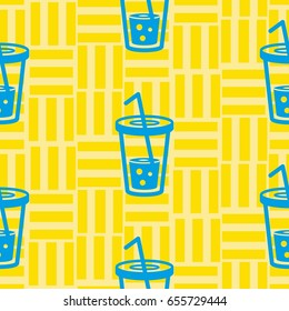 Pattern. Background texture. Cocktail  shake, drink, juice, glass.