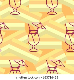Pattern. Background texture. Cocktail, shake, drink, juice, glass.