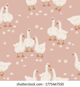 Pattern Background. Vector illustration of Goose