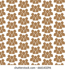 Pattern background why us people icon