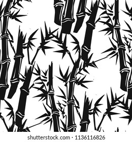 Pattern of bamboo. Vector illustration