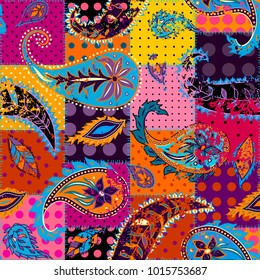 Pattern based on decorative elements Paisley. Seamless pattern in indian style.