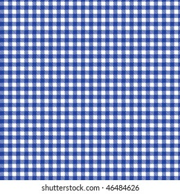 Pattern blue picnic