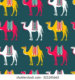pattern with camels - illustration
