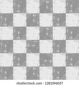 Pattern Checkers Color Gray And White -hipster style