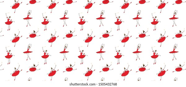 pattern with  christmas fairy or sugar plum fairy sprinkling happiness