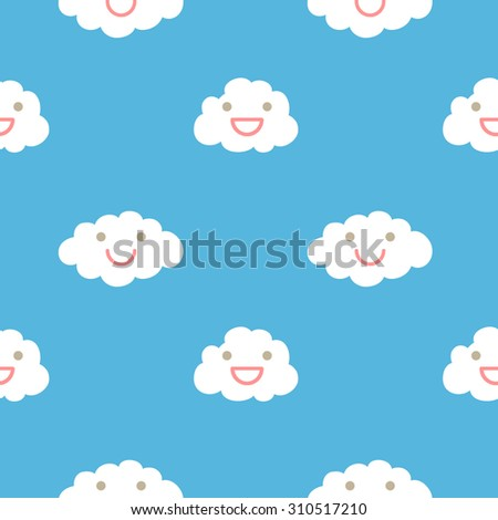 Pattern Clouds Smiley Face Stock Vector Royalty Free 310517210