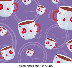 pattern with coffee