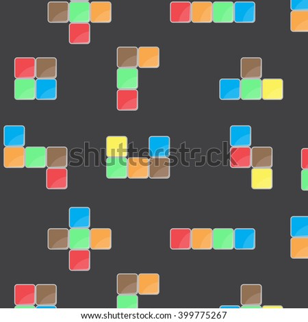 Pattern Color Block Game Block Pattern Stock Vector Royalty Free