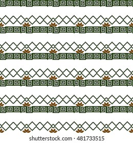 pattern of colored pixels in a geometric floral style. For Print on textiles, tableware, home decor. Vector illustration