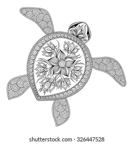 Adult Coloring Pages Turtles Images Stock Photos Vectors