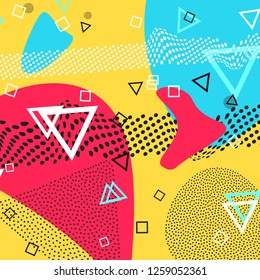 Pattern colors. Shapes abstract background. Colorful poster. Vector Illustration.