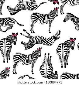 pattern consisting of zebras