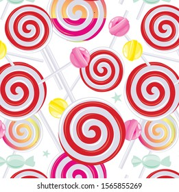 The pattern contains images of lollipops and sweets.