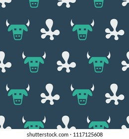 Pattern with cow and milk