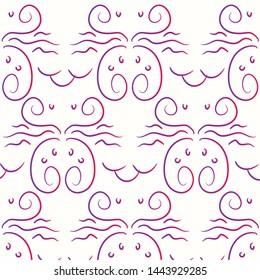 pattern crabs abstrak handraw 1