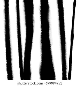 Pattern with creative texture. Vector background of paint strokes. Black and white. Striped pattern.