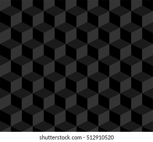 Pattern cube background black