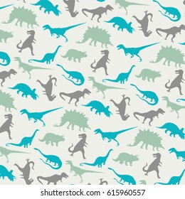 Pattern dinosaur silhouette, tee shirt graphics, vectors , all over print,