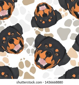 Pattern Dog Paws dog Rottweiler