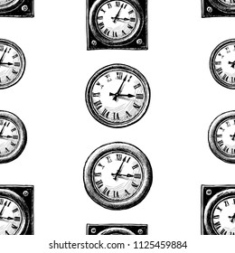 Pattern of the drawn clocks