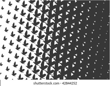 Pattern in Escher-style depicting the birds