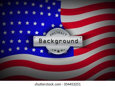 Pattern flag USA background. Vector illustration, EPS