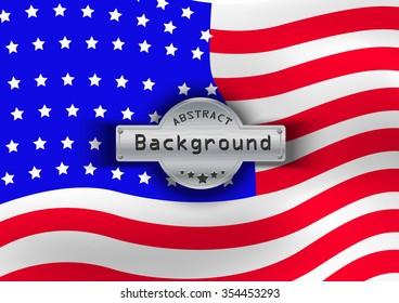 Pattern flag USA background. Vector illustration, EPS