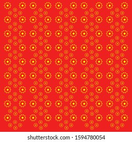Pattern with Flowers. background - Illustration Flower, Plant Seed, Vector