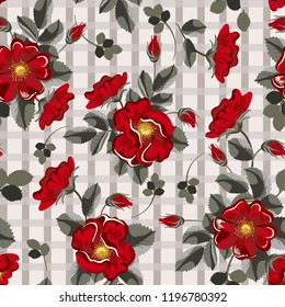 pattern flowers chaenomeles Poppy Leucanthemum Amethyst African daisies Oxeye daisy flowering quince buds cape primrose leaves luxury seamless red cute room wallpaper web grid