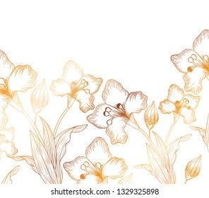 pattern flowers and leafs isolated icon