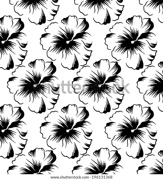 pattern of flowers.line vector.hands drawing.