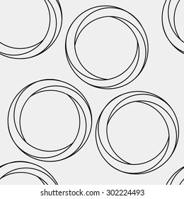 Pattern geometric seamless simple monochrome minimalistic pattern of impossible shapes, rounds
