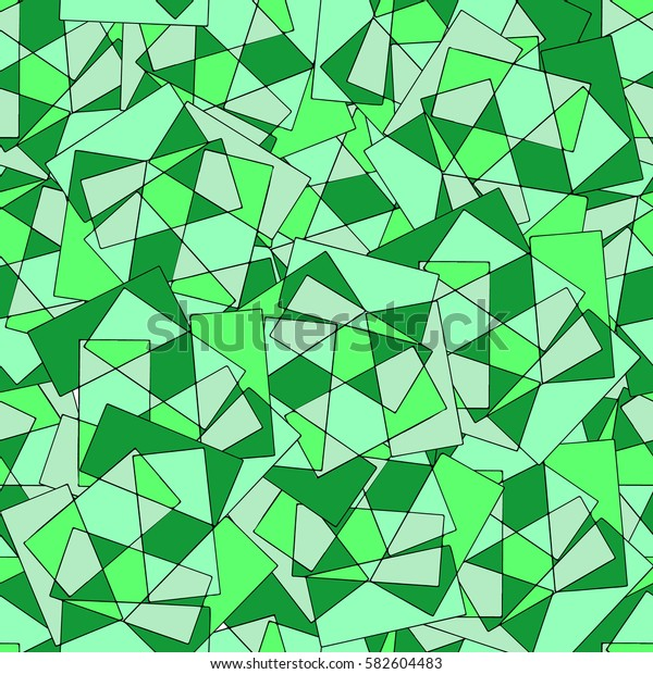 The pattern of geometric shapes.