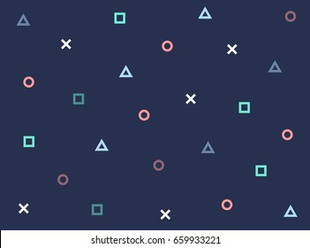 Pattern geometric vector game hipster texture backdrop