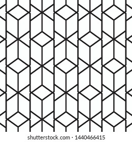 Pattern geometry of hexagon background. Pattern is on swatch panel.