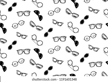 Pattern glasses sunscreen. Vector illustration