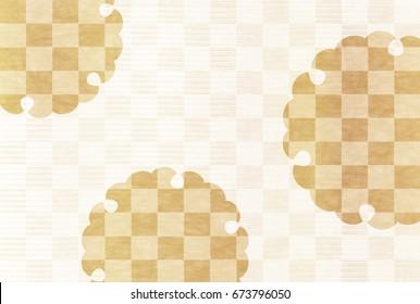 Pattern gold Japanese pattern background