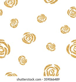 pattern of gold roses
