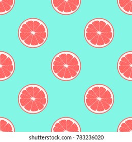 pattern with grapefruit on a blue background, tropical fruit group, cute fruit background