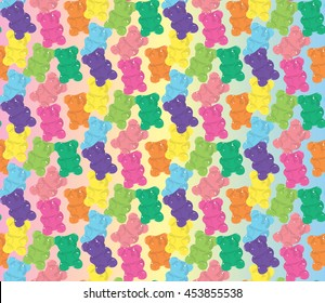 Pattern gummy bear color