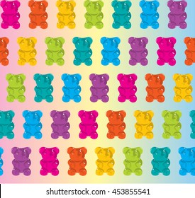Pattern gummy bear jelly