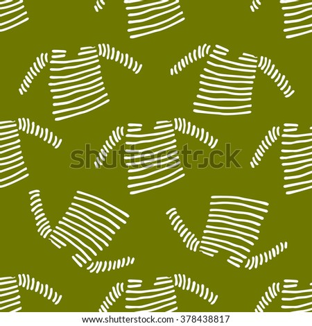 Pattern Hand Draw Vest Stock Vector Royalty Free 378438817